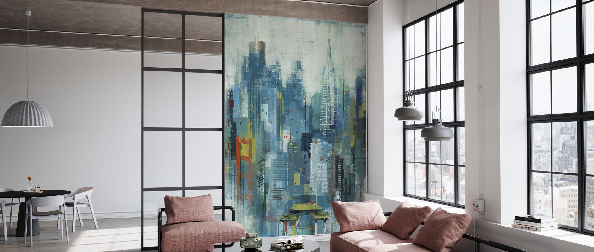 San Francisco Skyline Art - Wallpaper - Office