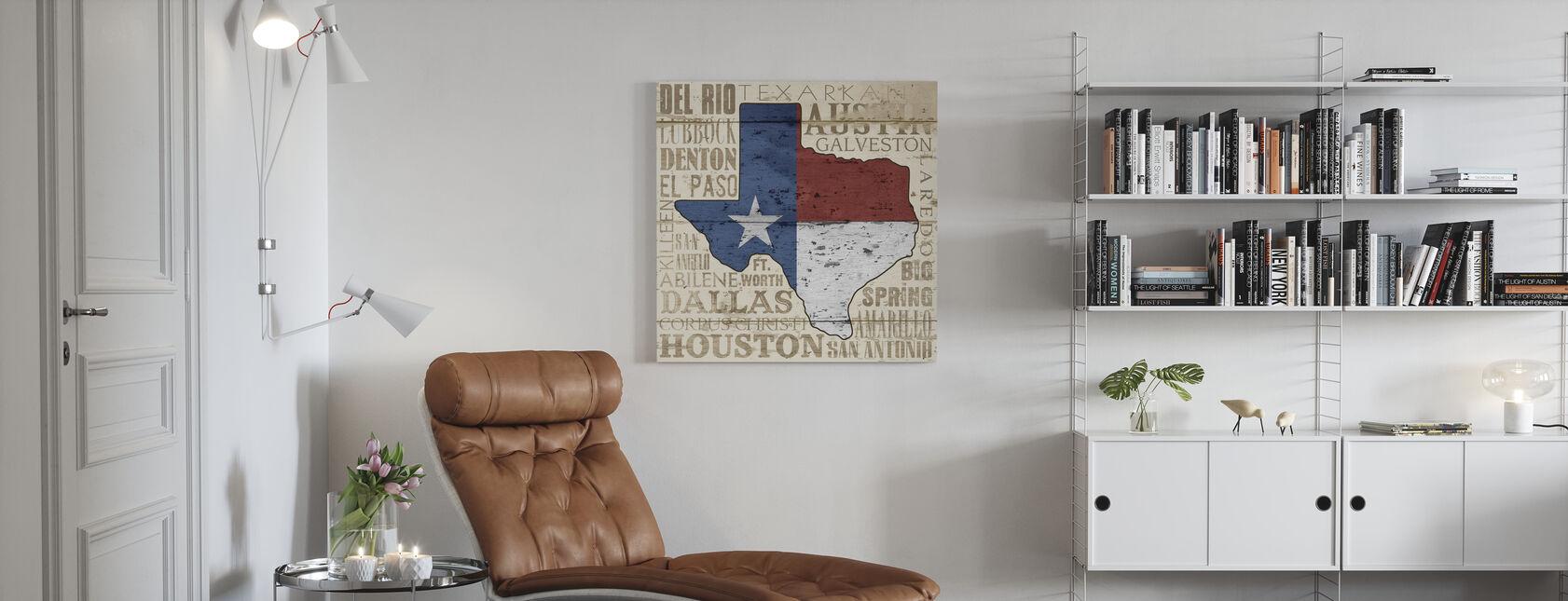 Texas State - Lerretsbilde - Stue