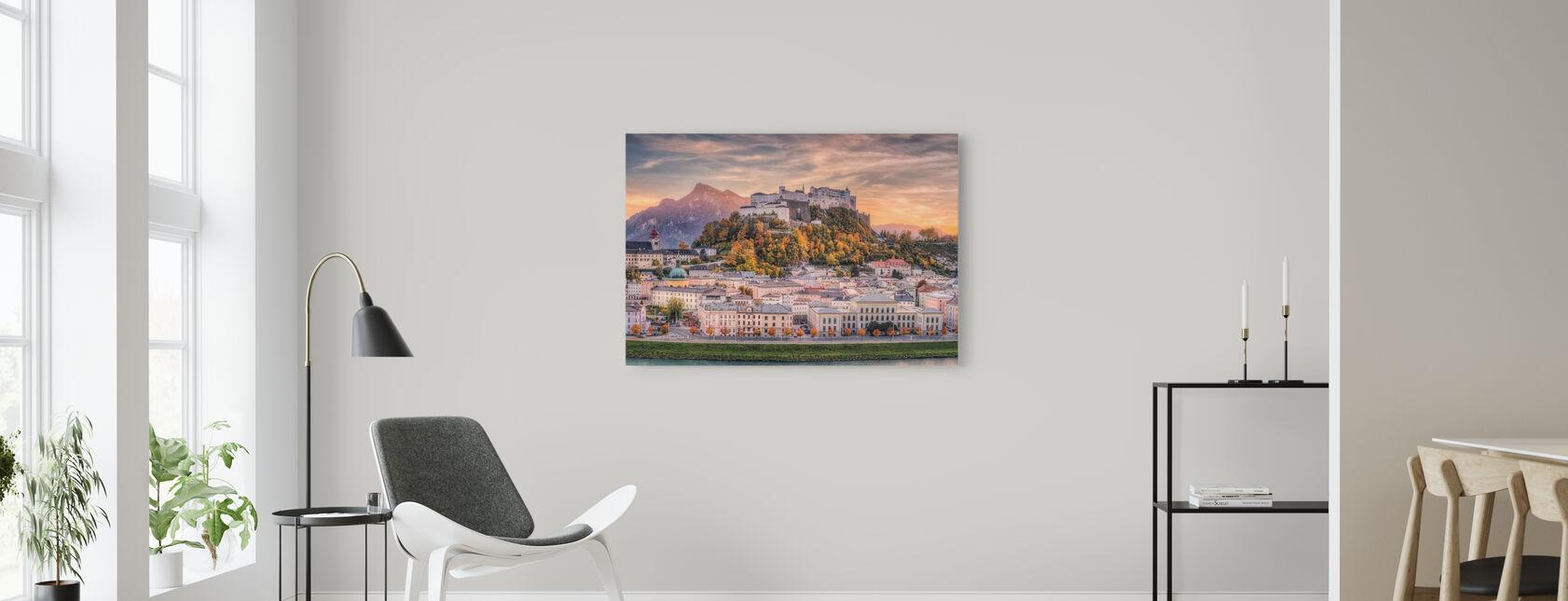 Salzburg in herfstkleuren - Canvas print - Woonkamer
