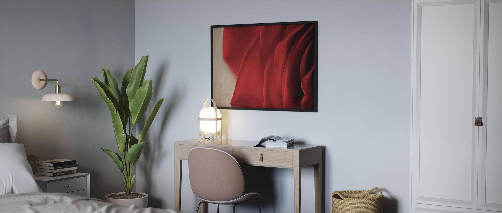Vintage Red Rose - Poster - Bedroom