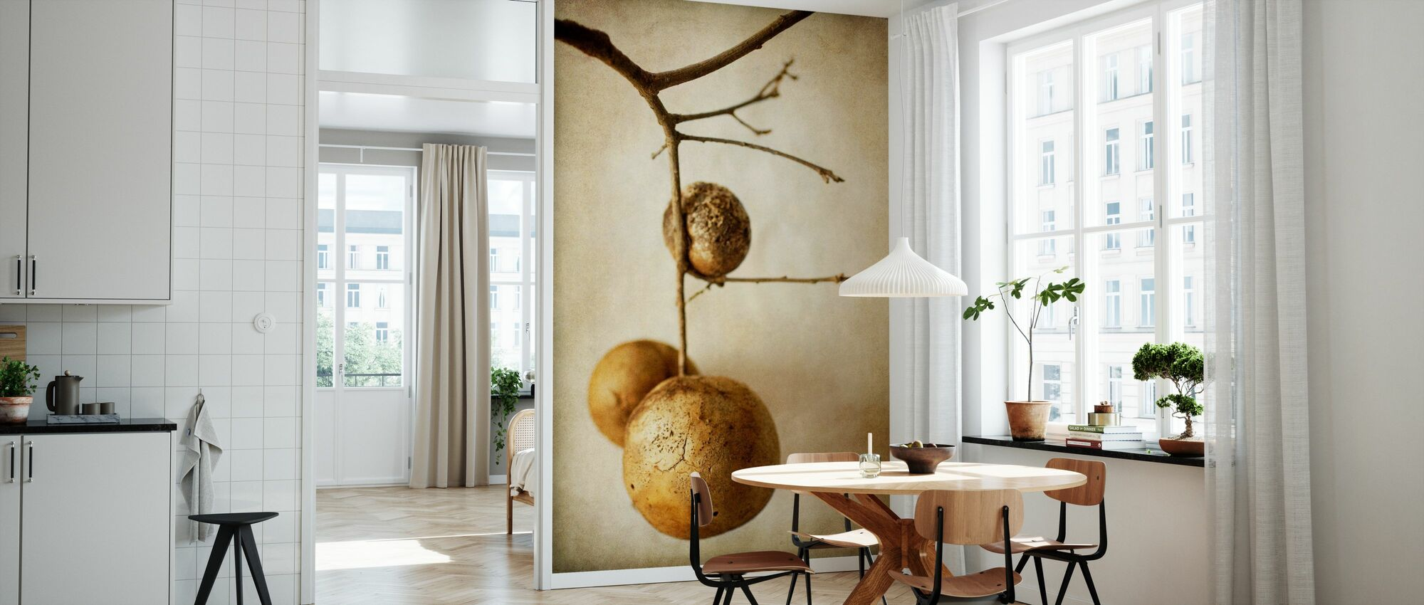 Vintage Oak Pods - Wallpaper - Kitchen
