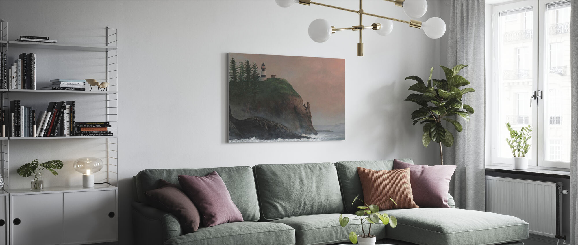 Cape Disappointment Light - Canvas print - Living Room