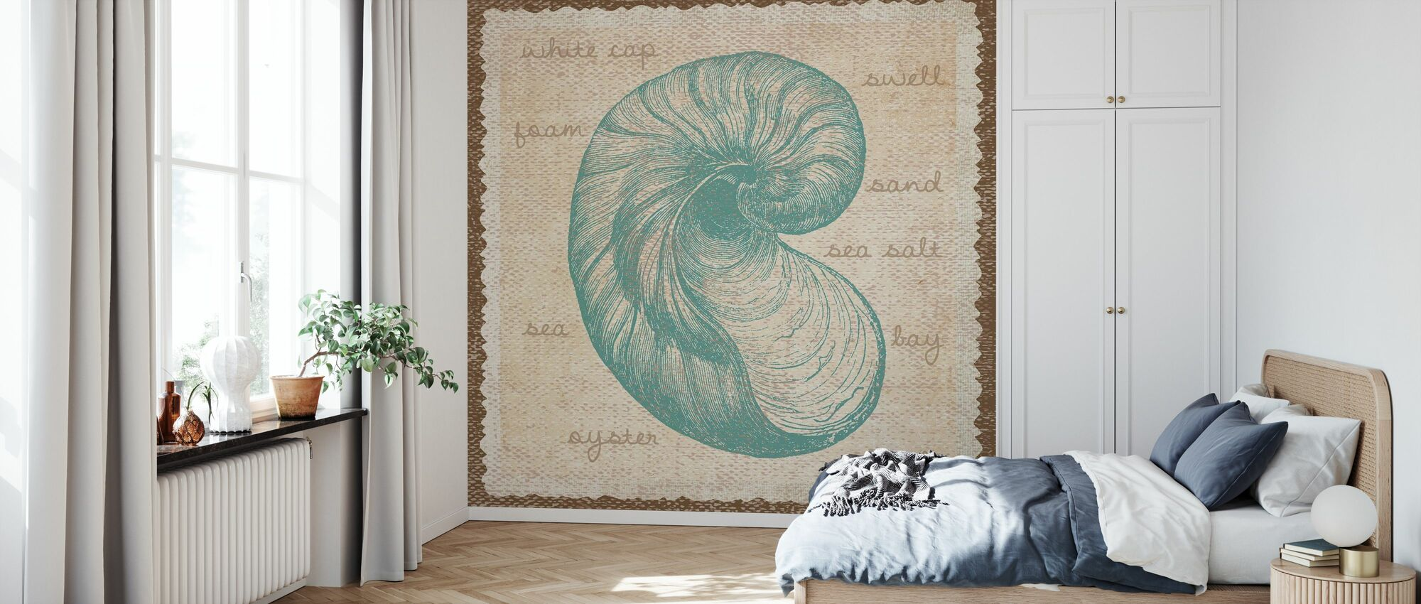 Oyster Art - Wallpaper - Bedroom