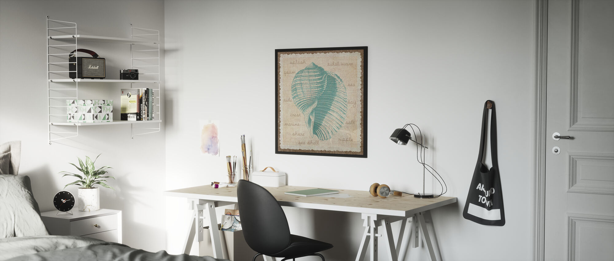 Shell and Text - Poster - Kids Room