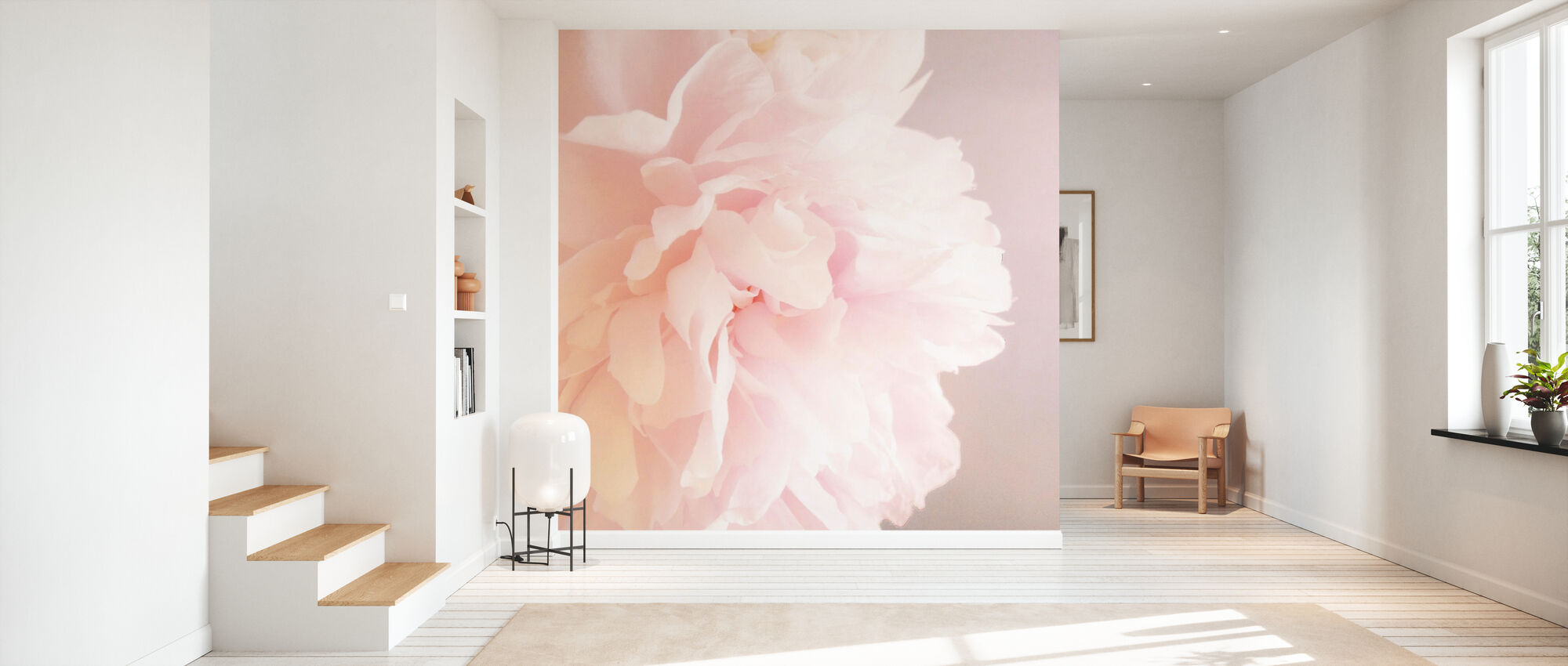 Light Pink Peony - Wallpaper - Hallway