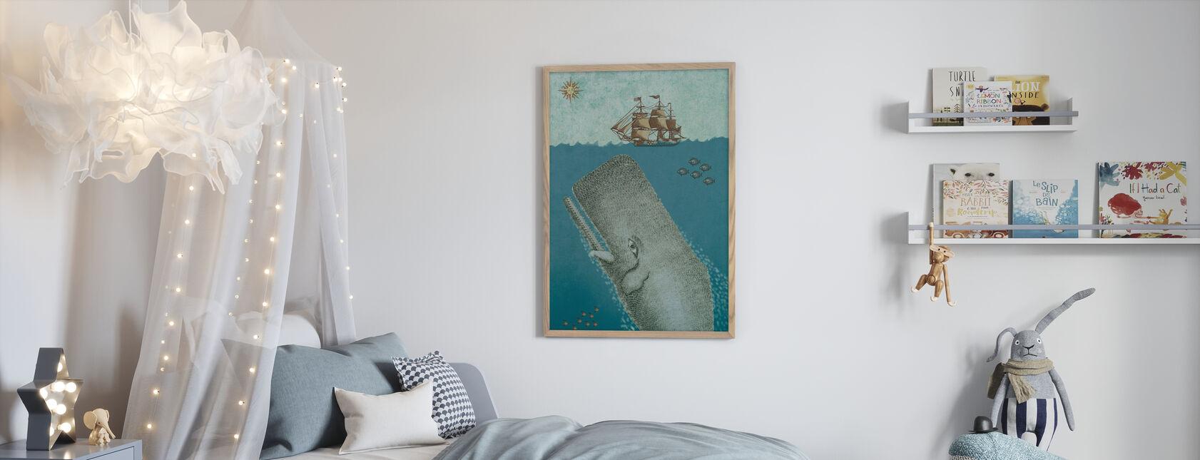 Valas ja laiva - Kehystetty kuva - Lastenhuone