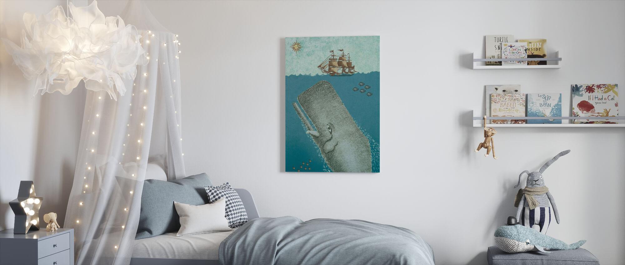 Balena e Nave - Stampa su tela - Camera dei bambini
