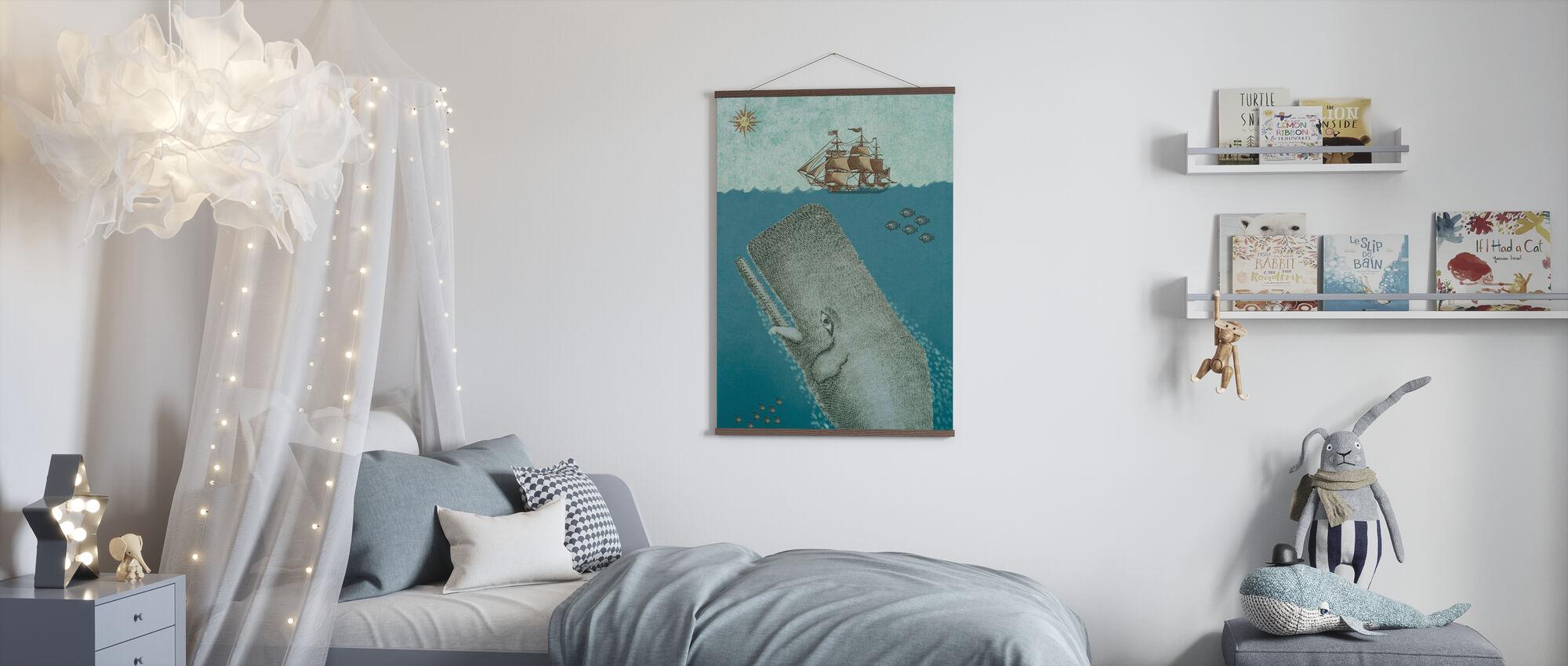 Walvis en schip - Poster - Kinderkamer