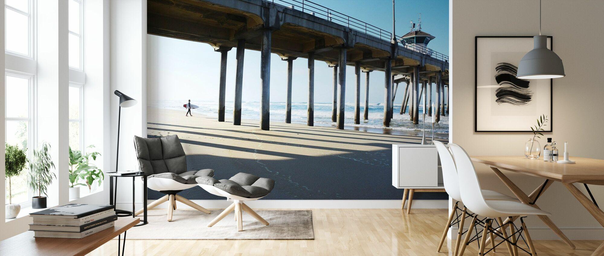 Surf City - Wallpaper - Living Room