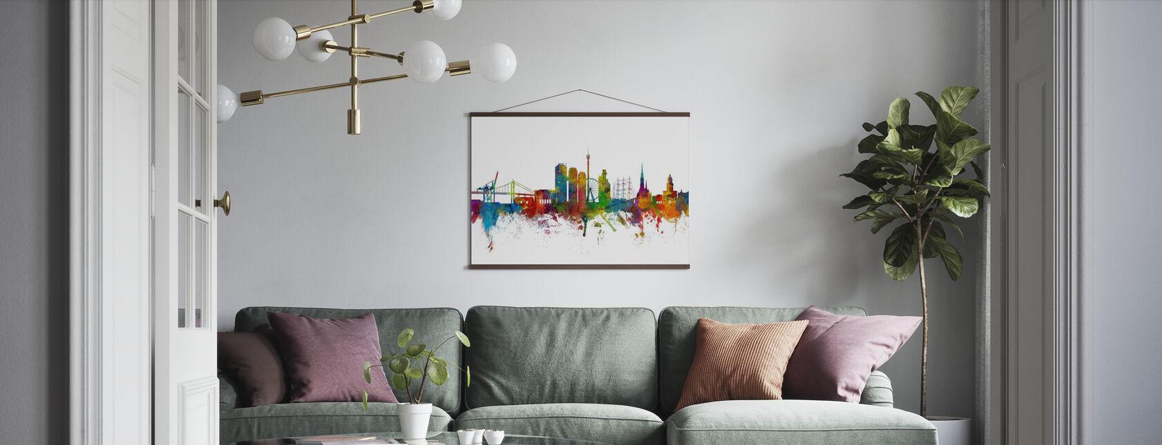 Göteborg Skyline - Poster - Vardagsrum