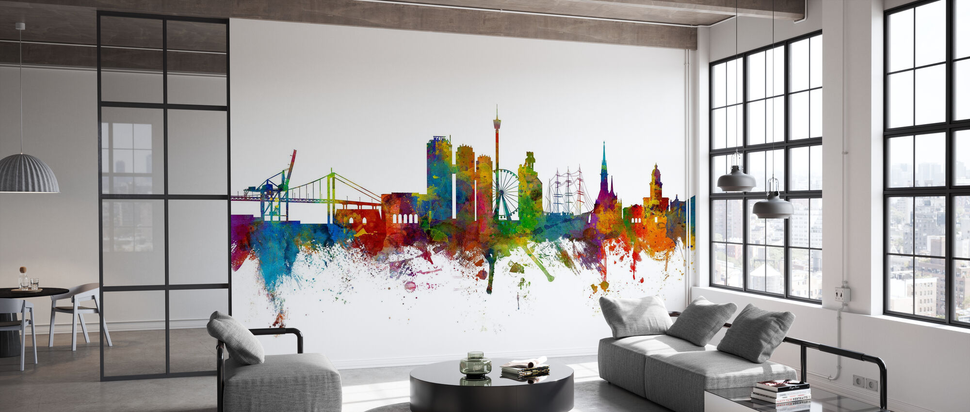Göteborg Skyline - Papel pintado - Oficina