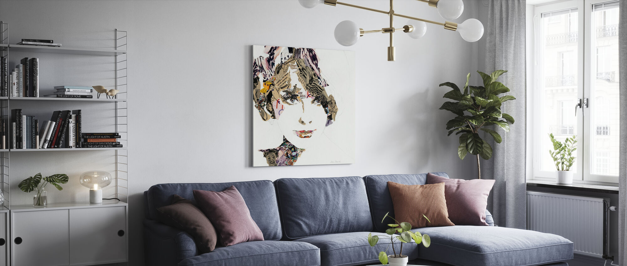 Elke - Canvas print - Living Room