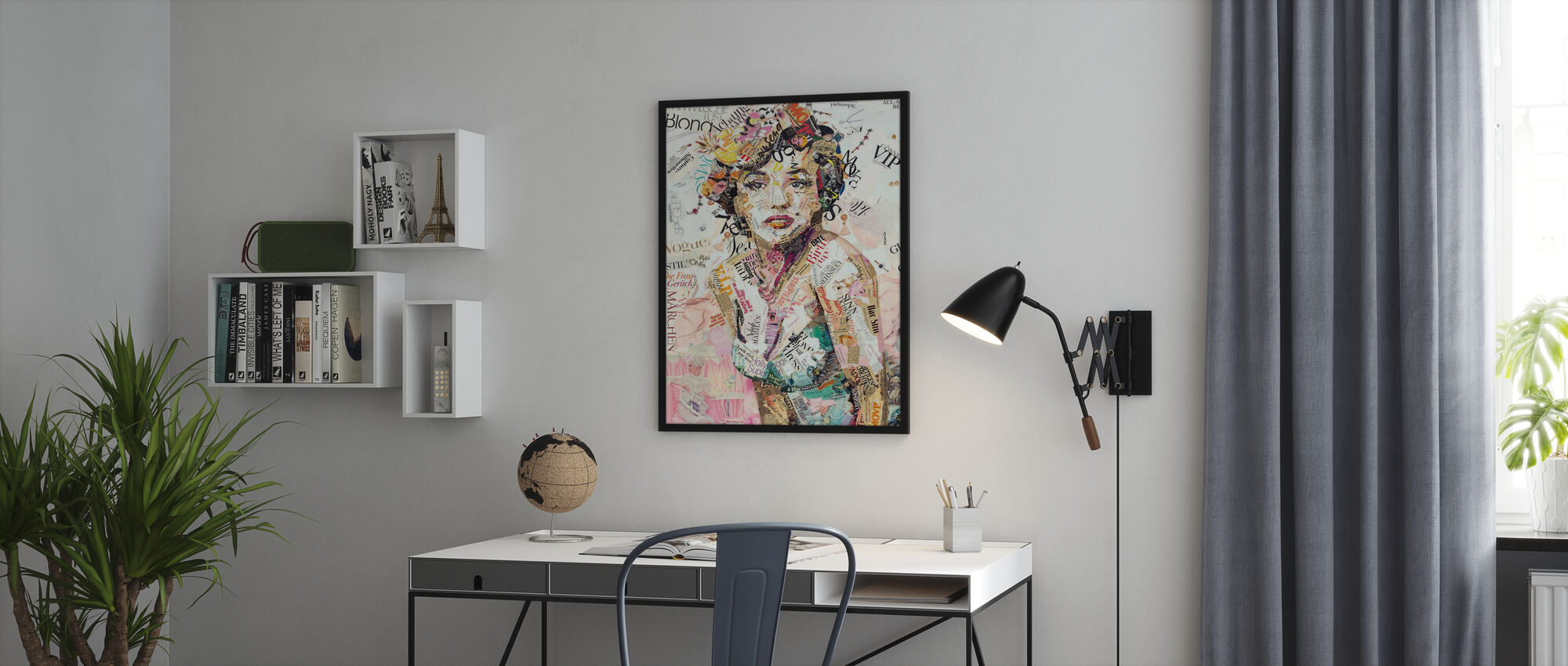 Glam en Glorie - Ingelijste print - Kantoor