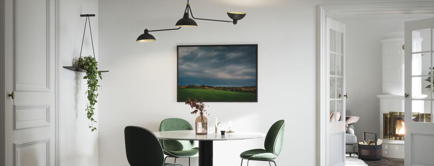 Golfbaan in Lofoten, Noorwegen - Ingelijste print - Keuken