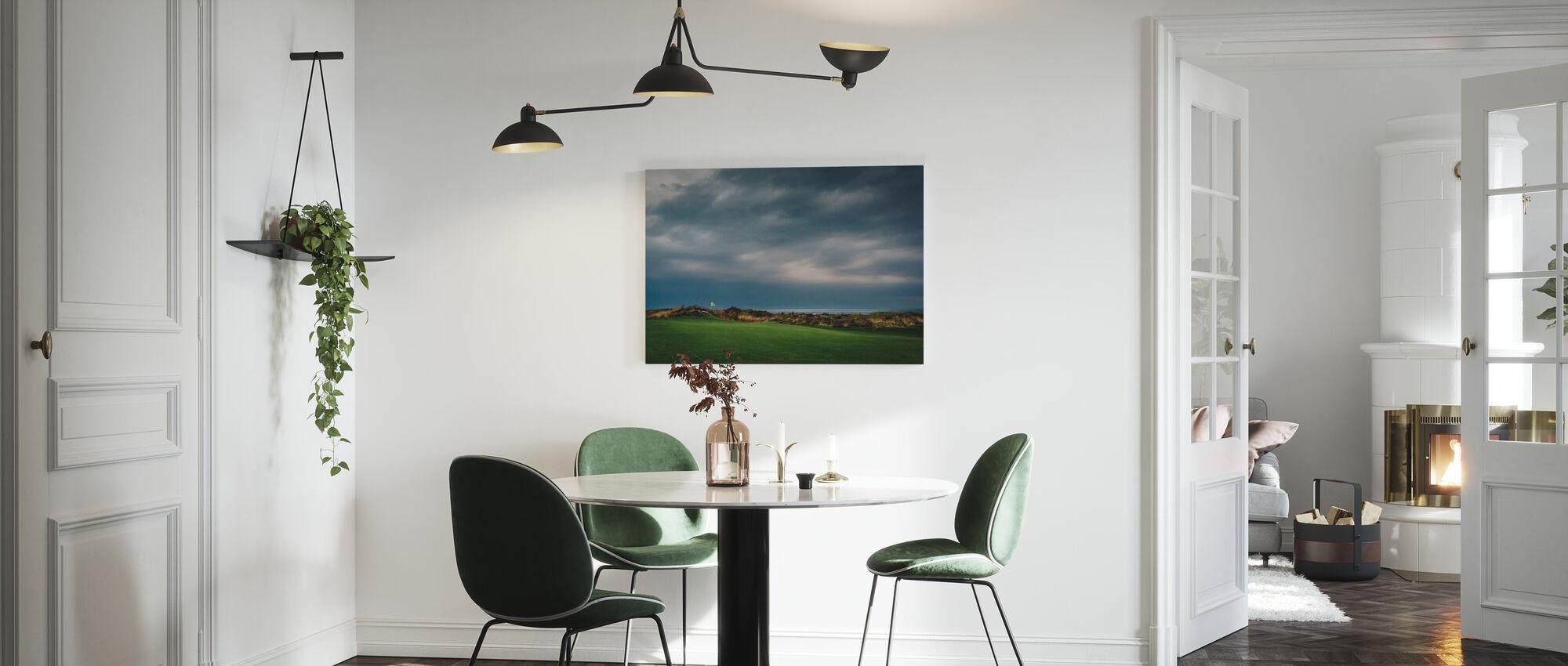 Golf Course in Lofoten, Norway - Canvas print - Kitchen