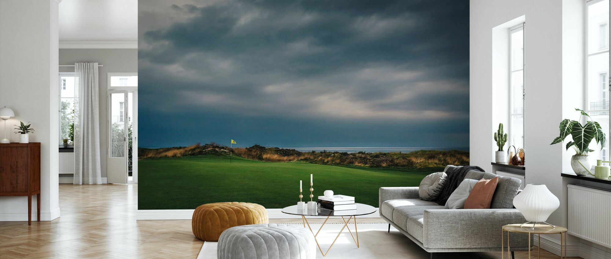 Golf Course in Lofoten, Norway - Wallpaper - Living Room