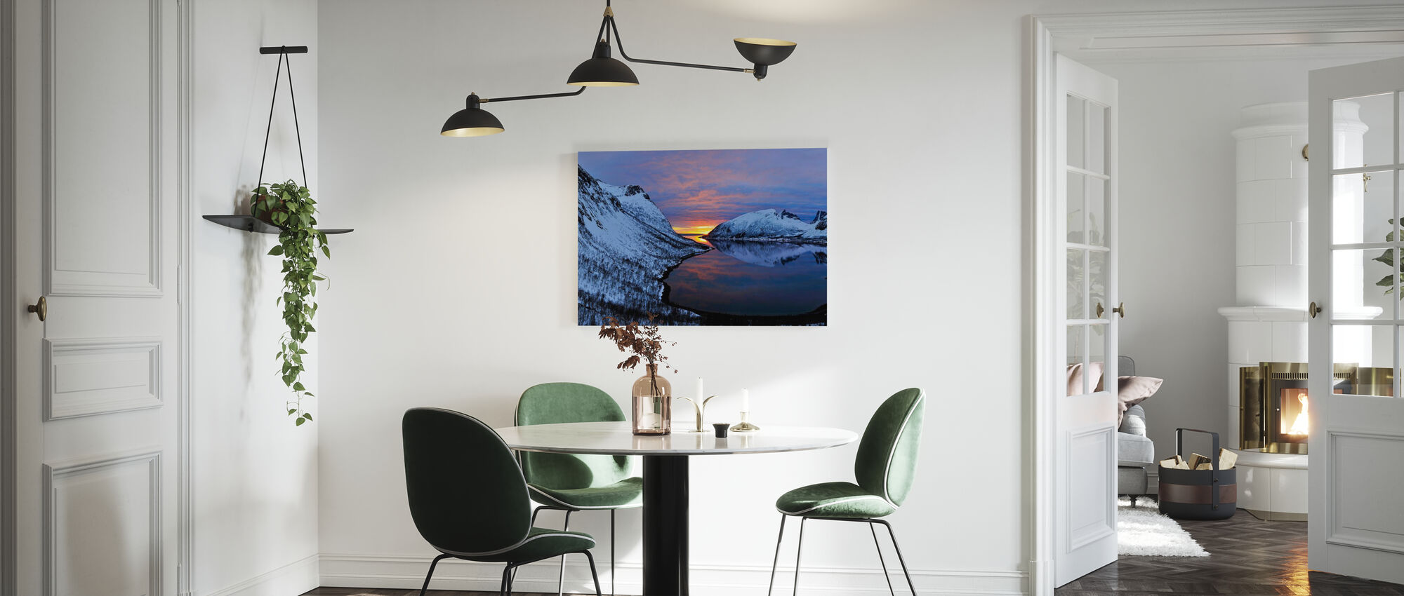 Golden Sunset over Troms, Norway - Canvas print - Kitchen