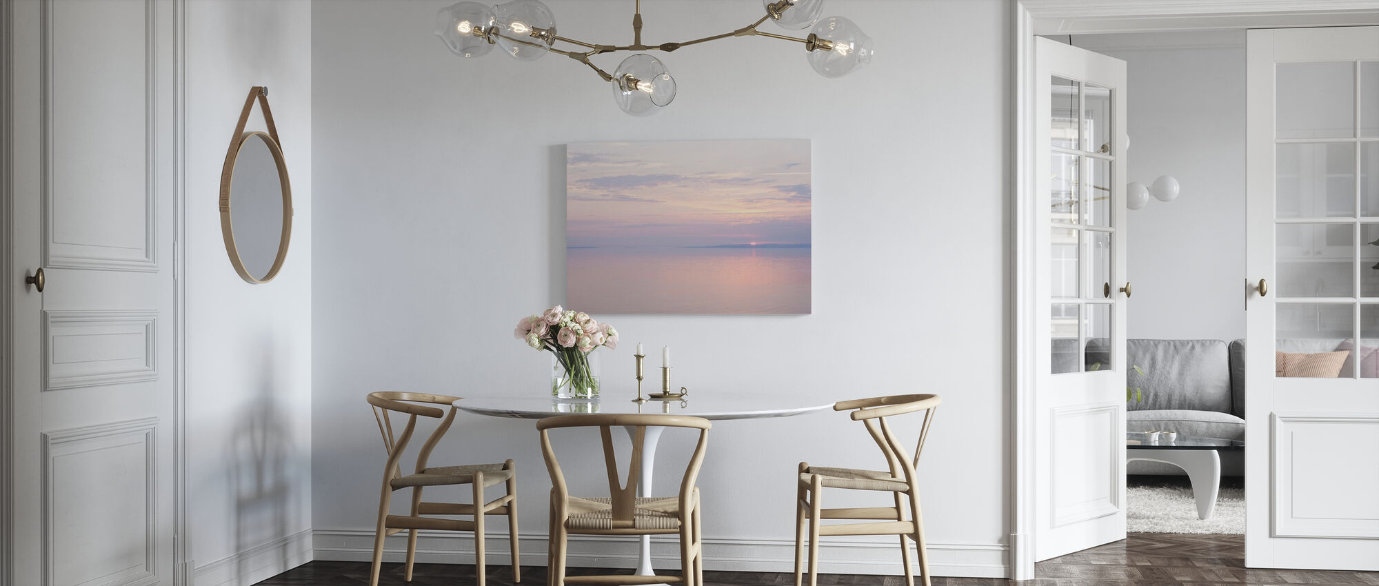Light Pink Sea - Canvas print - Kitchen
