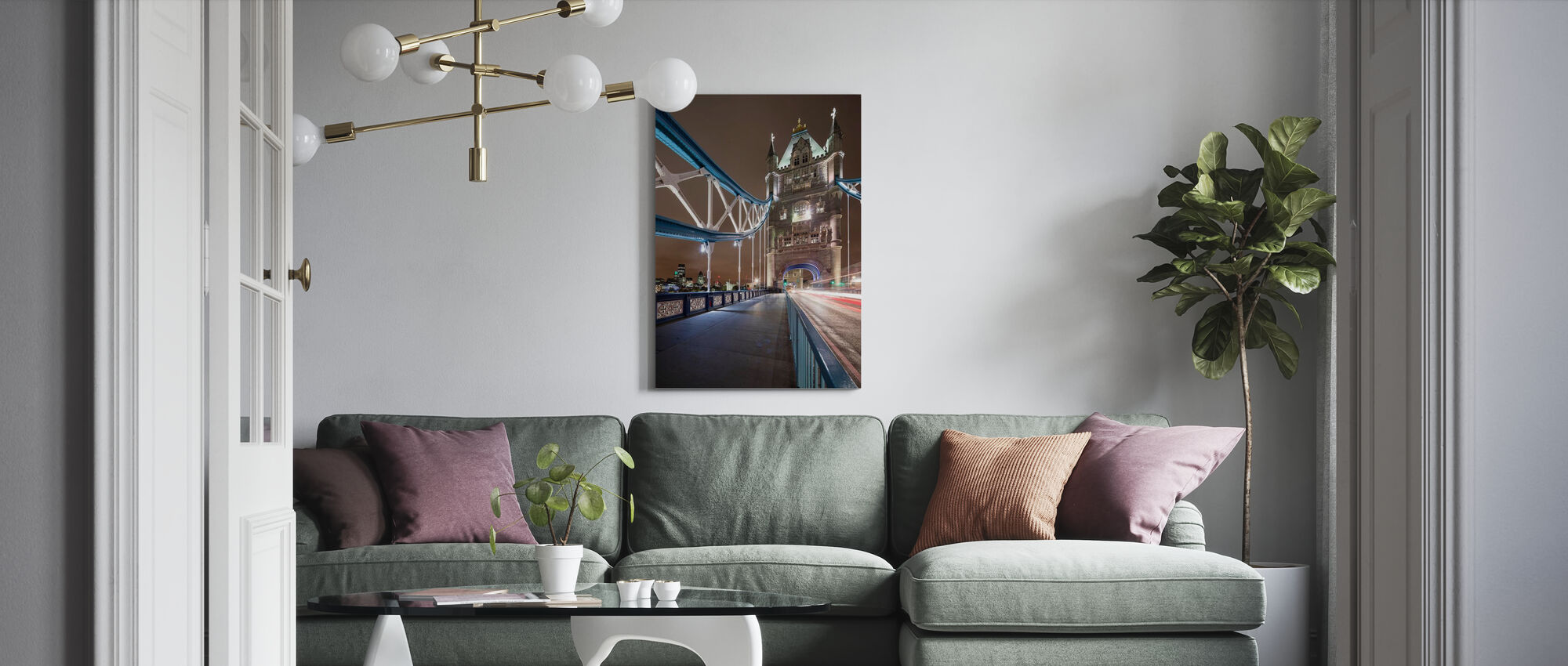 Standing on London Bridge III - Canvas print - Living Room