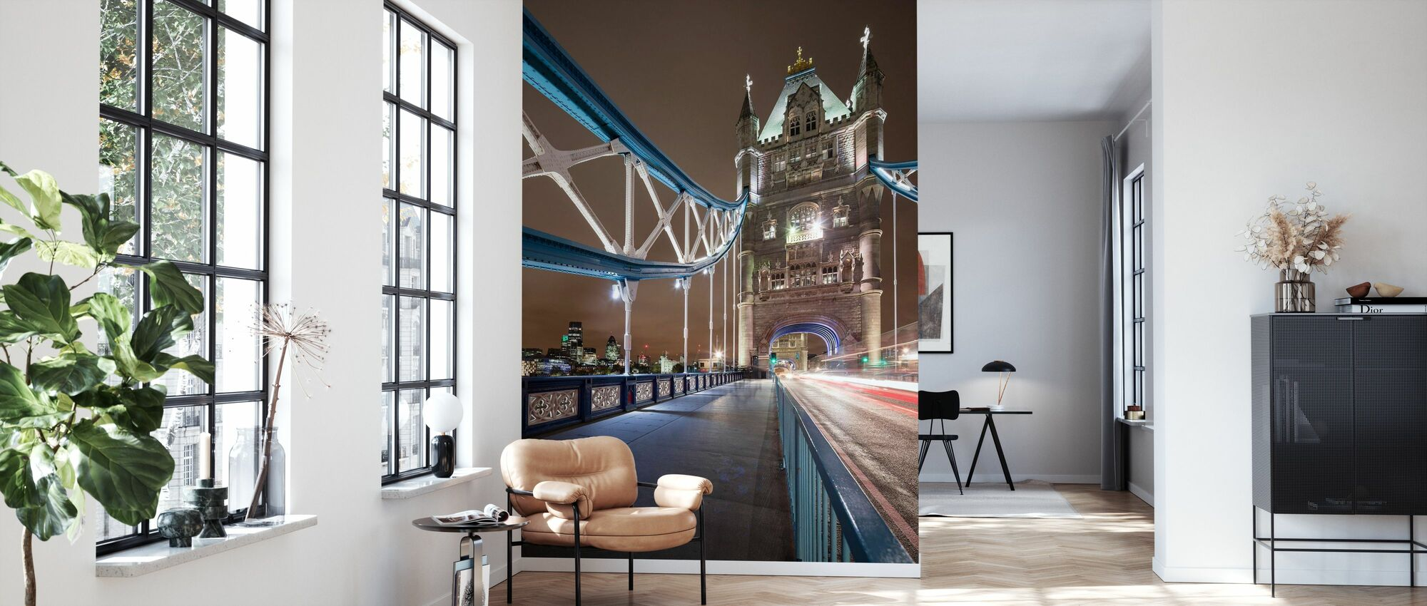 Standing on London Bridge III - Wallpaper - Living Room