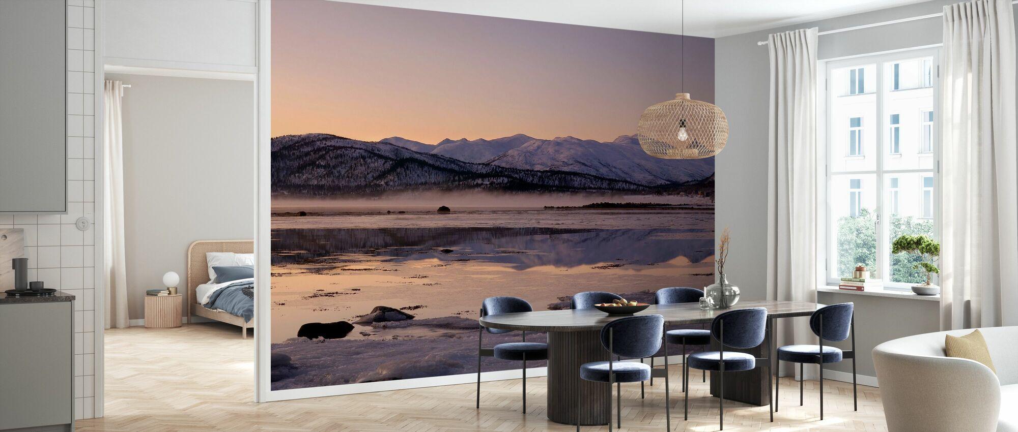 Snødekte Fjell, Senja Norge - Tapet - Kjøkken