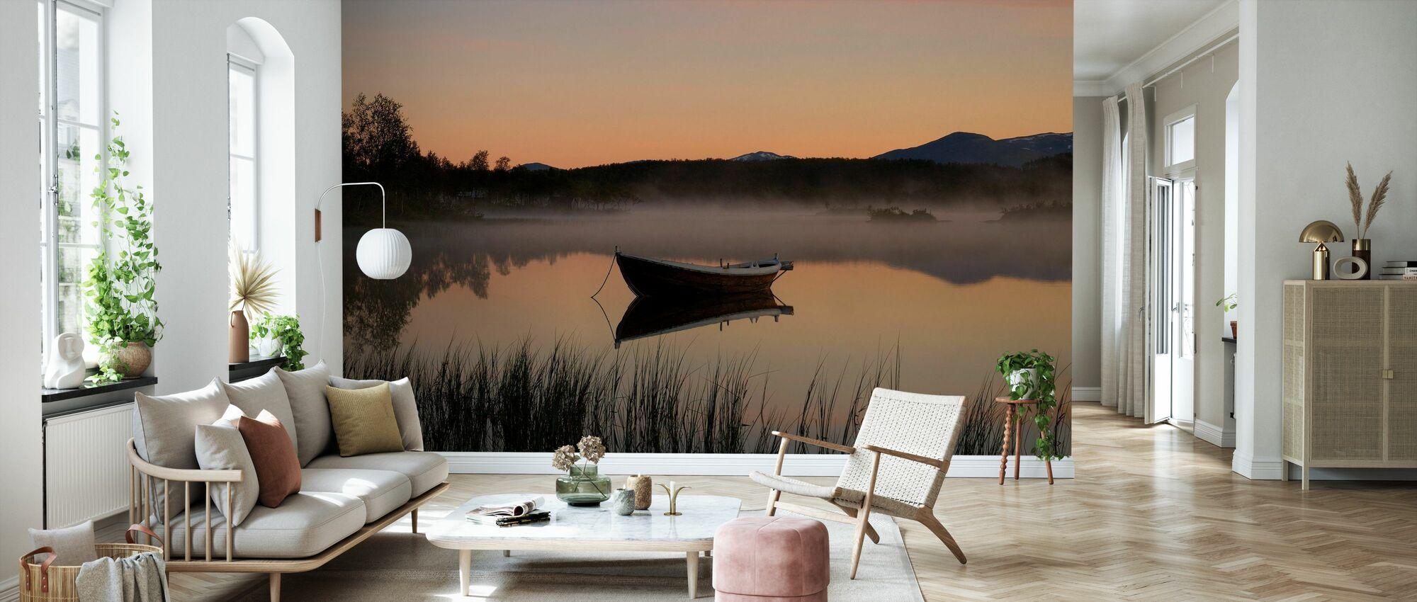 Fredlig kväll vid sjön, Senja Norge - Tapet - Vardagsrum