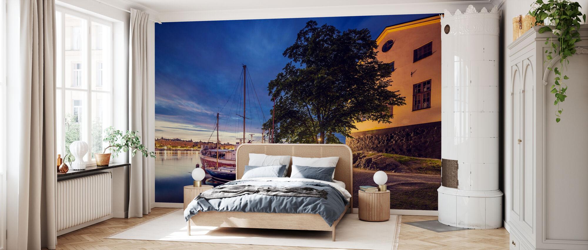 Barche al crepuscolo, Stoccolma - Carta da parati - Camera da letto