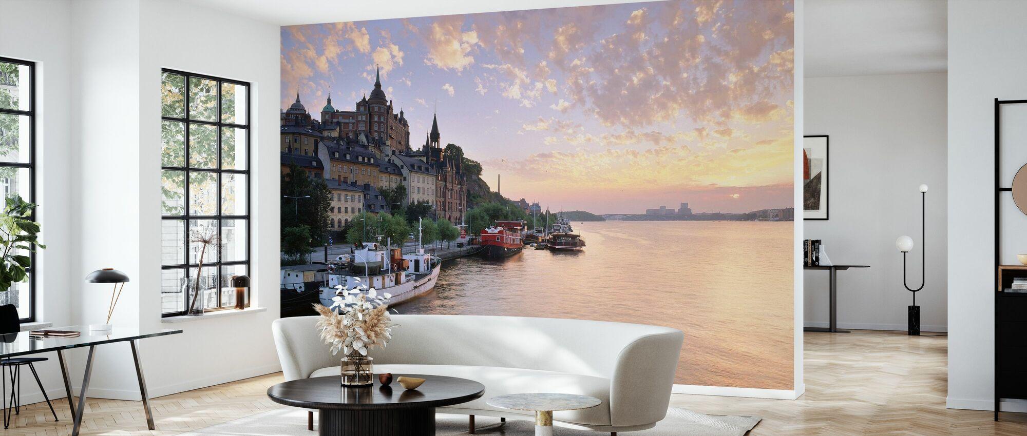 Summer Night in Stockholm - Wallpaper - Living Room