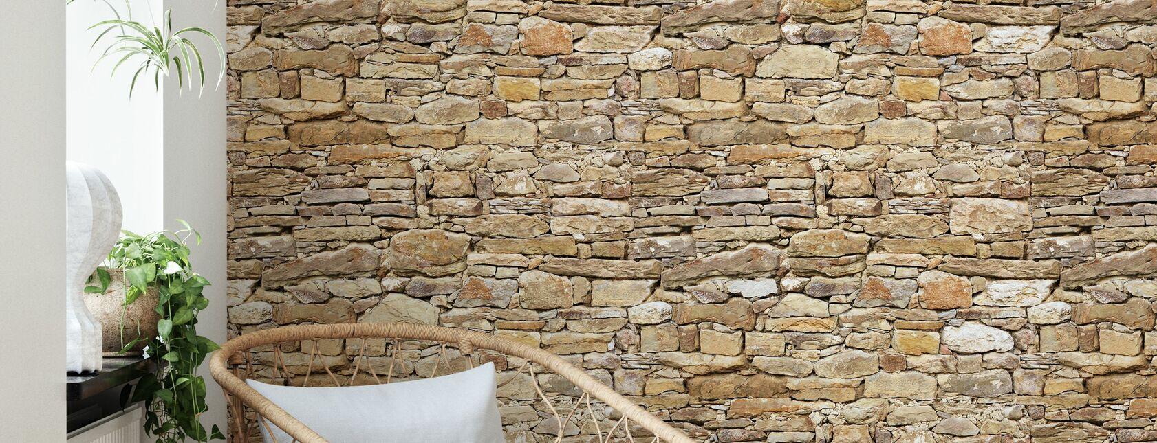 Mur en pierre rustique - Papier peint - Salle à manger