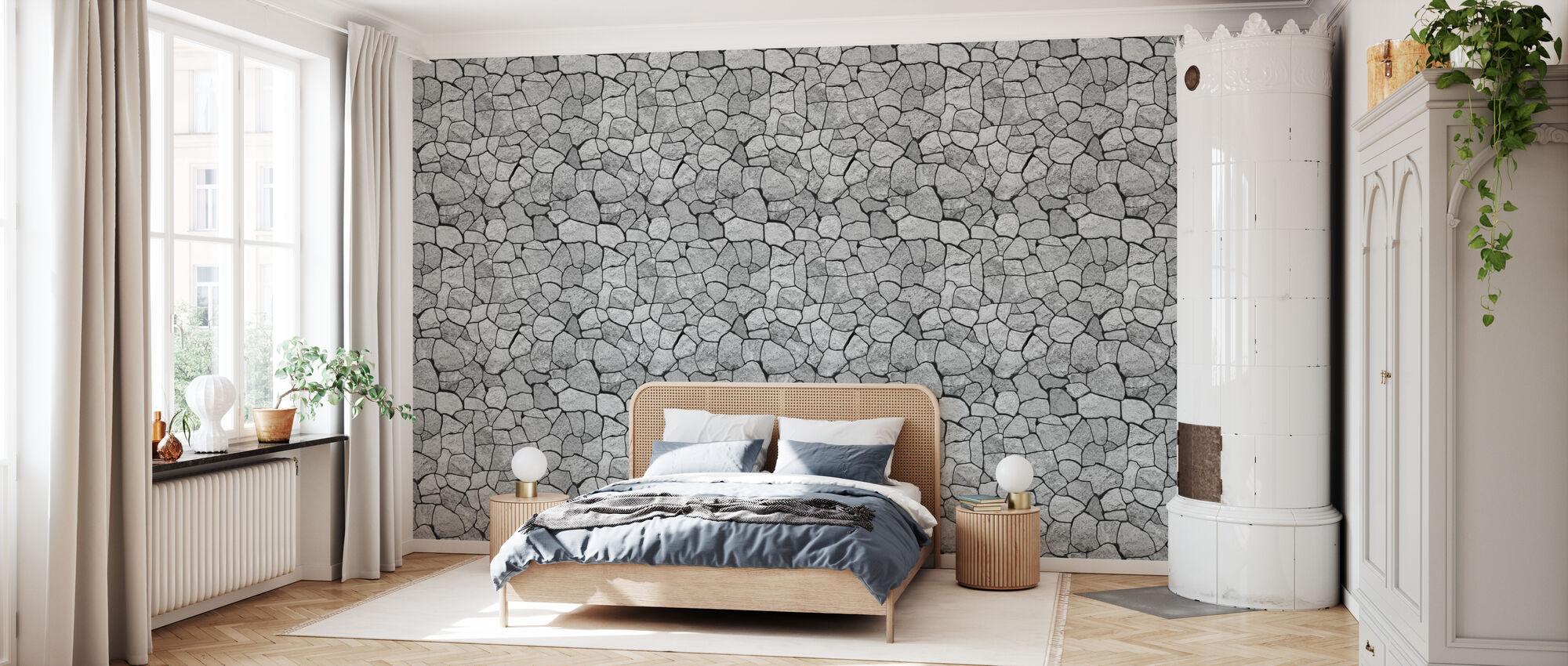 Granite Wall - Wallpaper - Bedroom