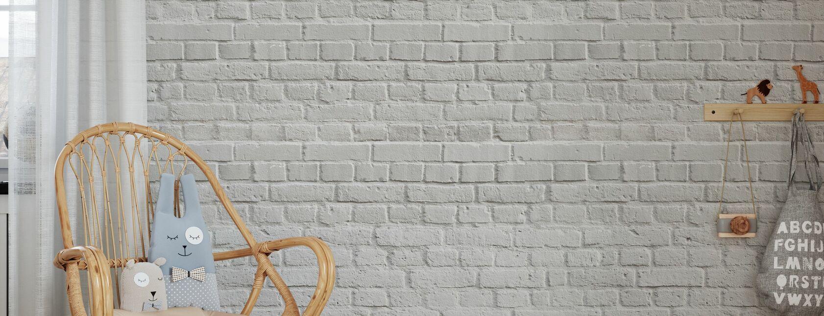 Witte Amsterdamse bakstenen muur - Behang - Kinderkamer