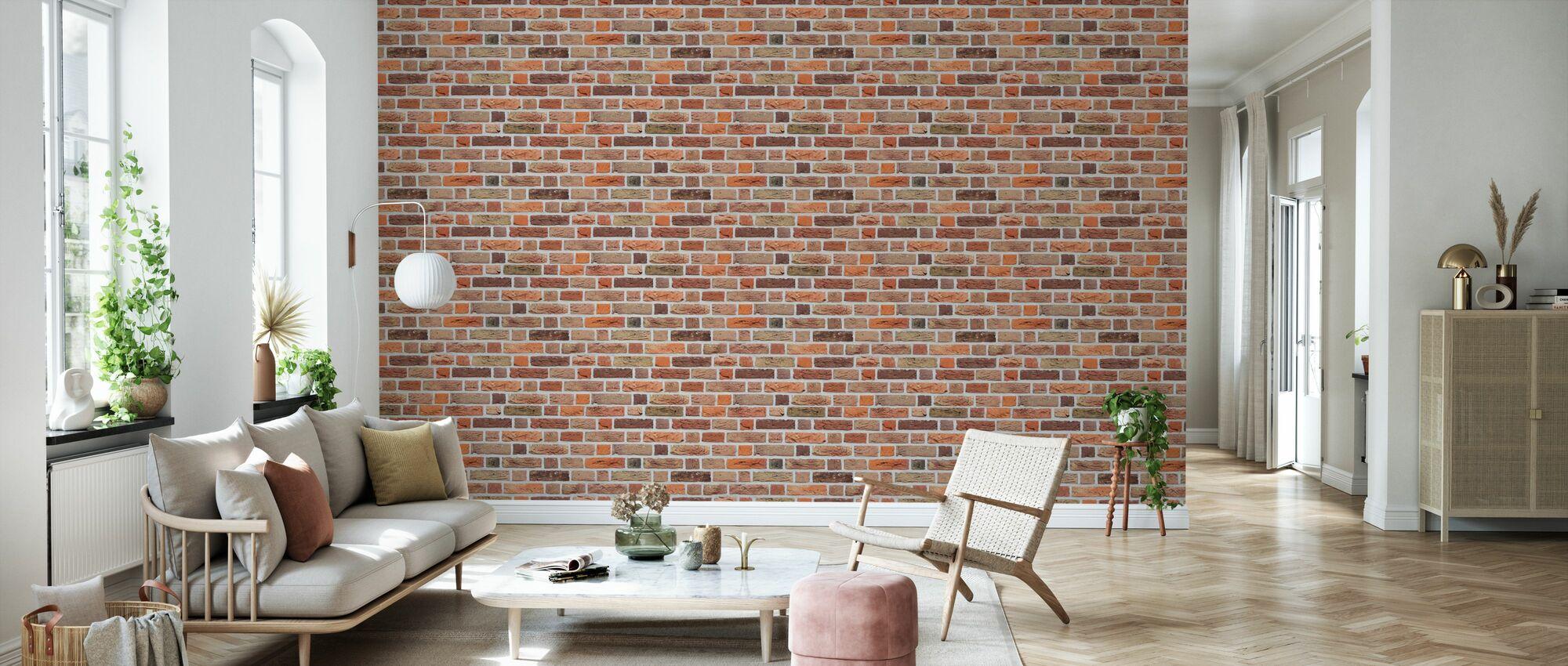 Varied Brick Wall - Wallpaper - Living Room