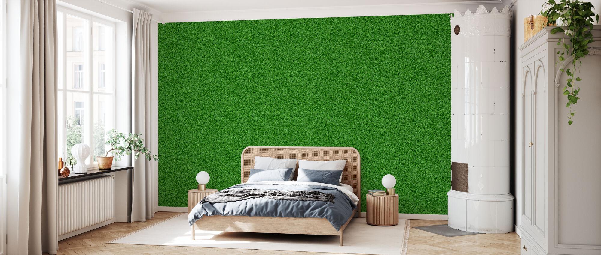 Grønn plen - Tapet - Soverom