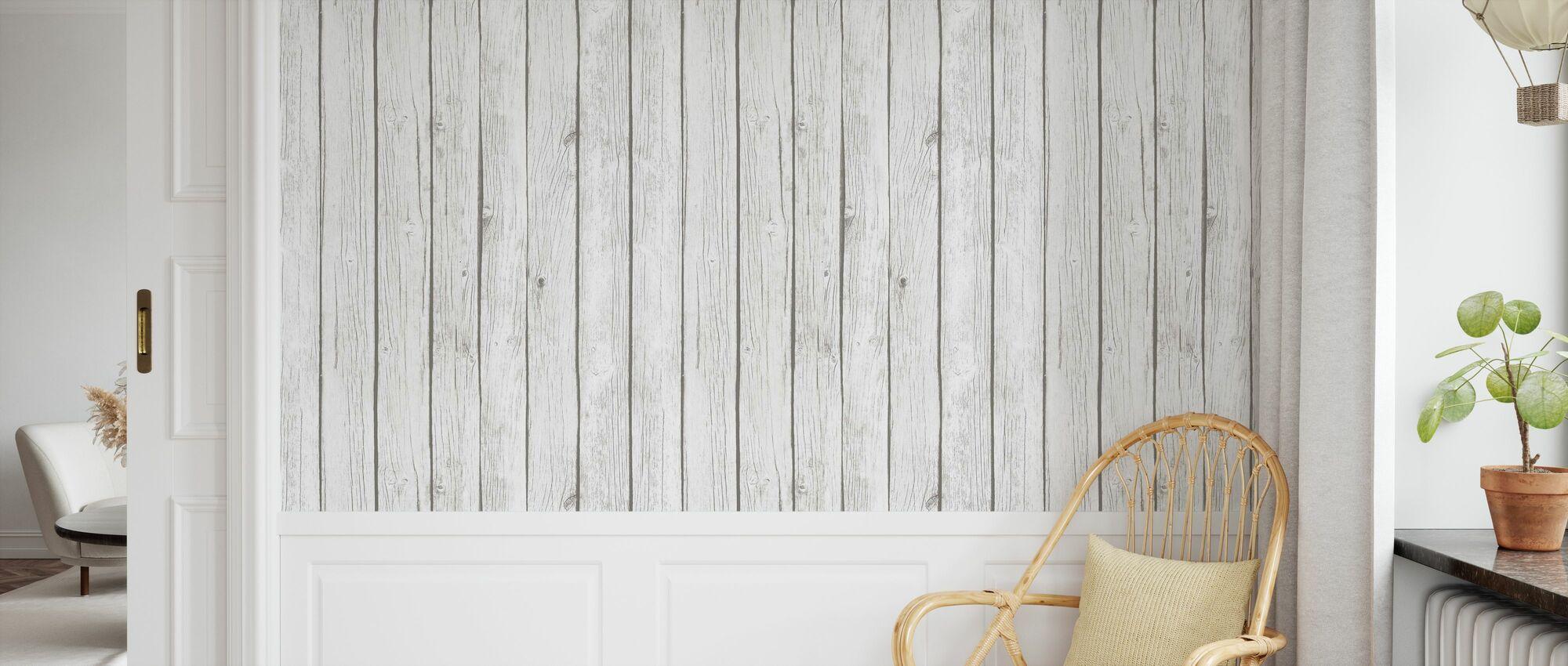 Board Wall - White - Wallpaper - Kids Room