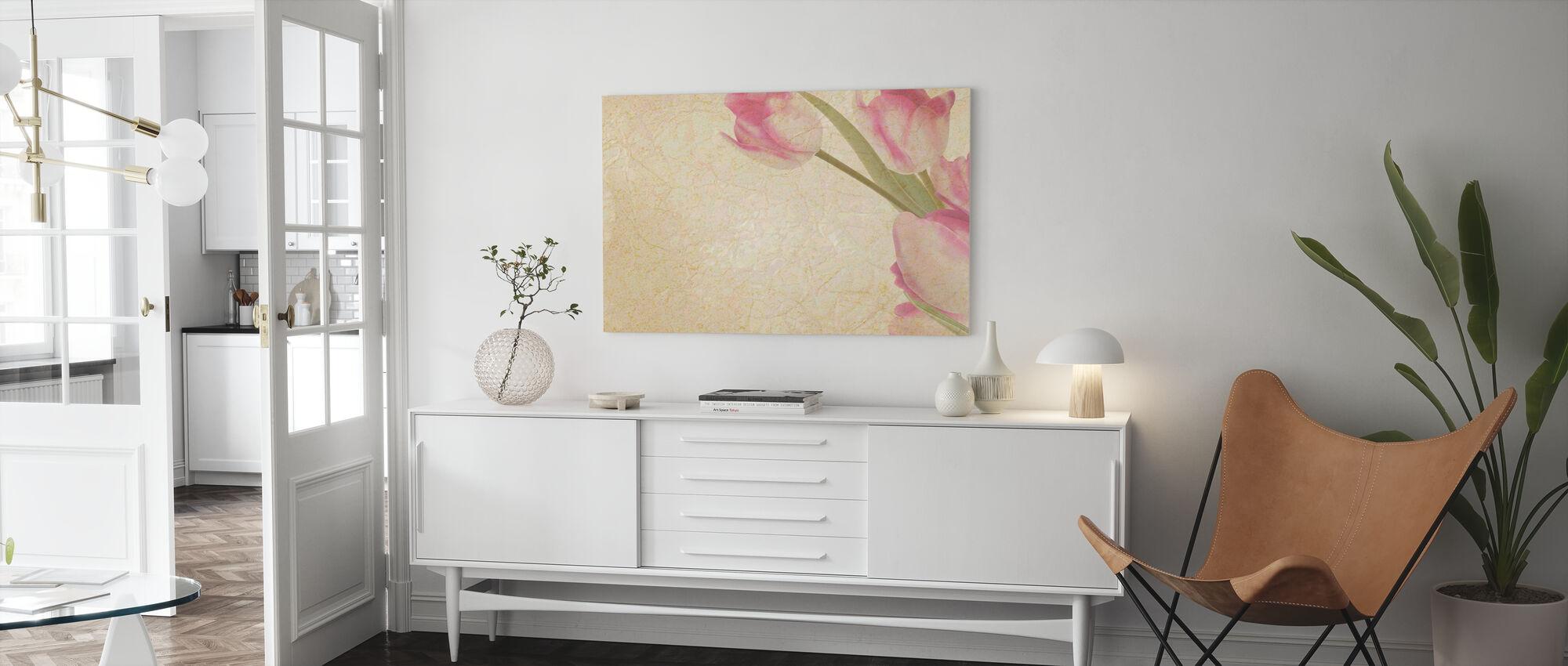 Vintage Tulpen - Canvas print - Woonkamer