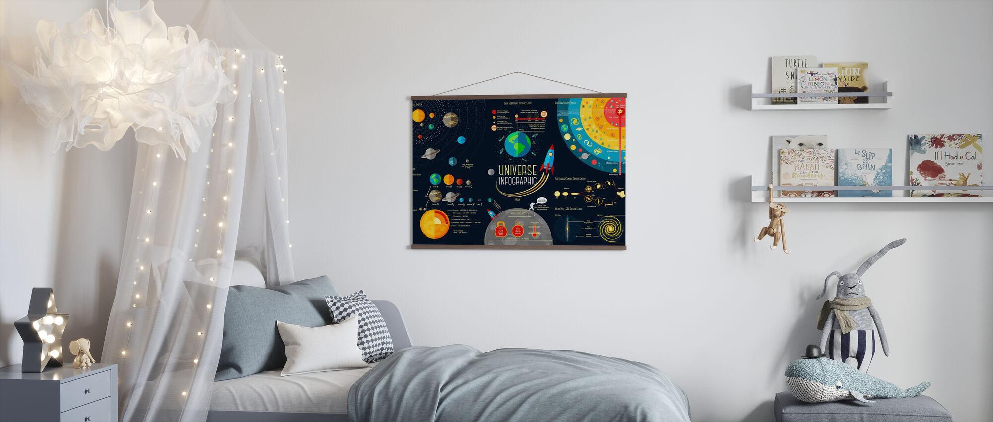 Set of Universe Infographics - Poster - Kids Room