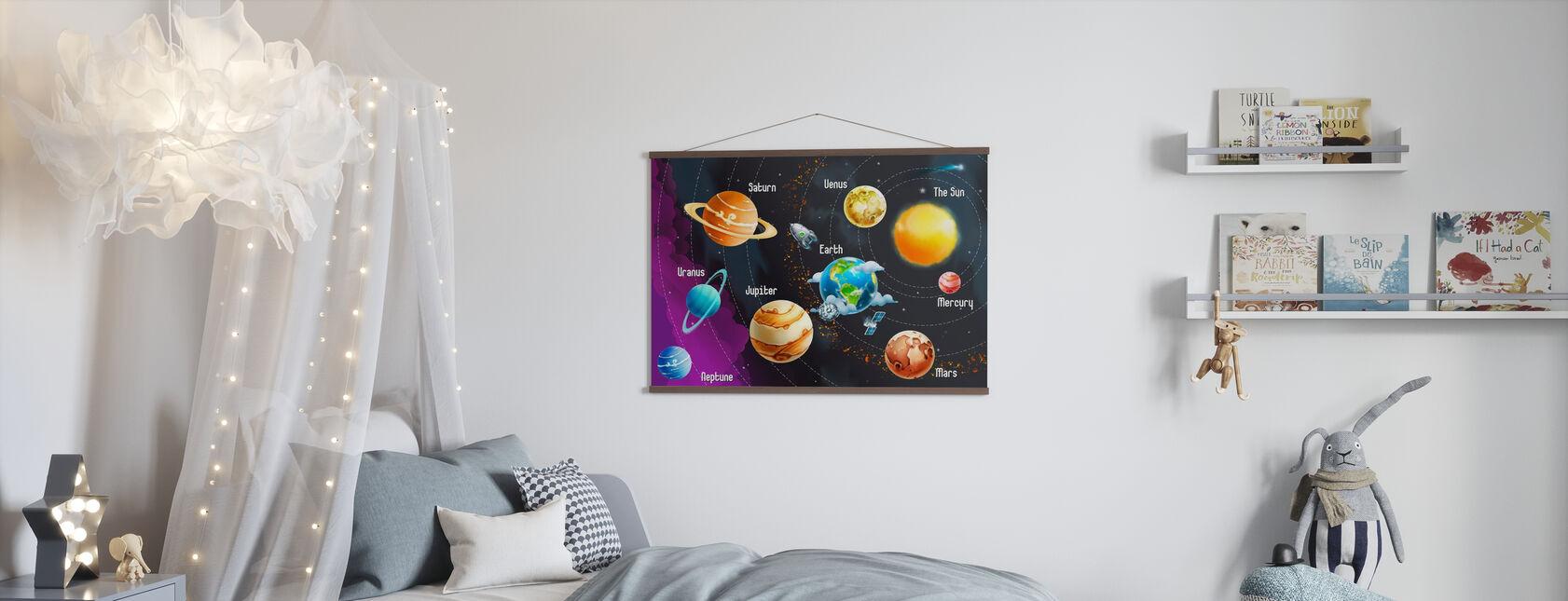 Zonnestelsel Planeten - Poster - Kinderkamer