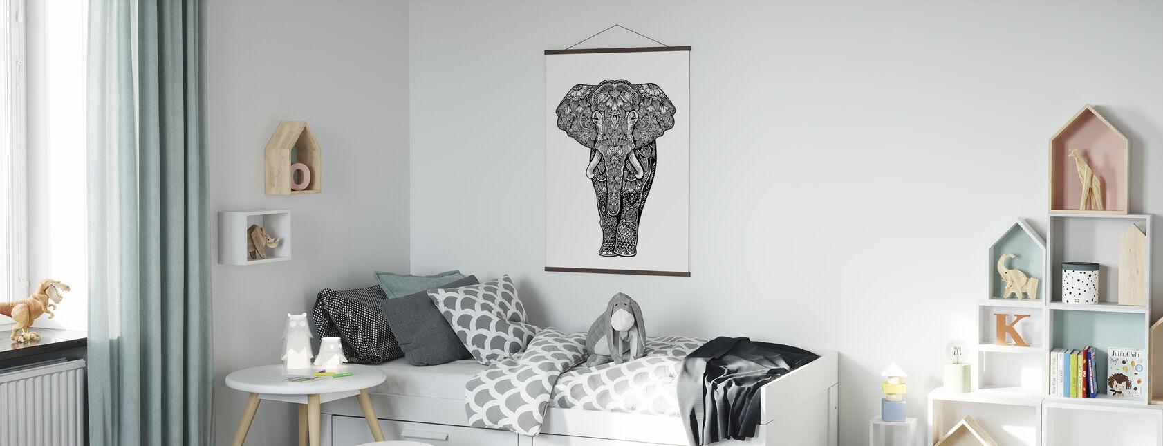Henna Elefant - Plakat - Børneværelse