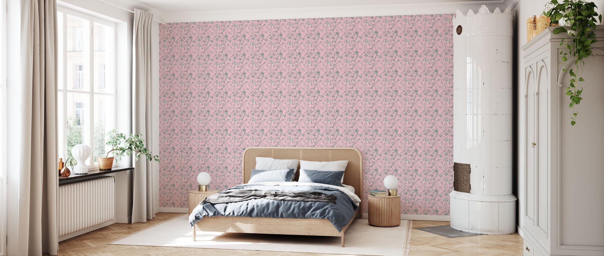 Hummingbird Pink - Wallpaper - Bedroom