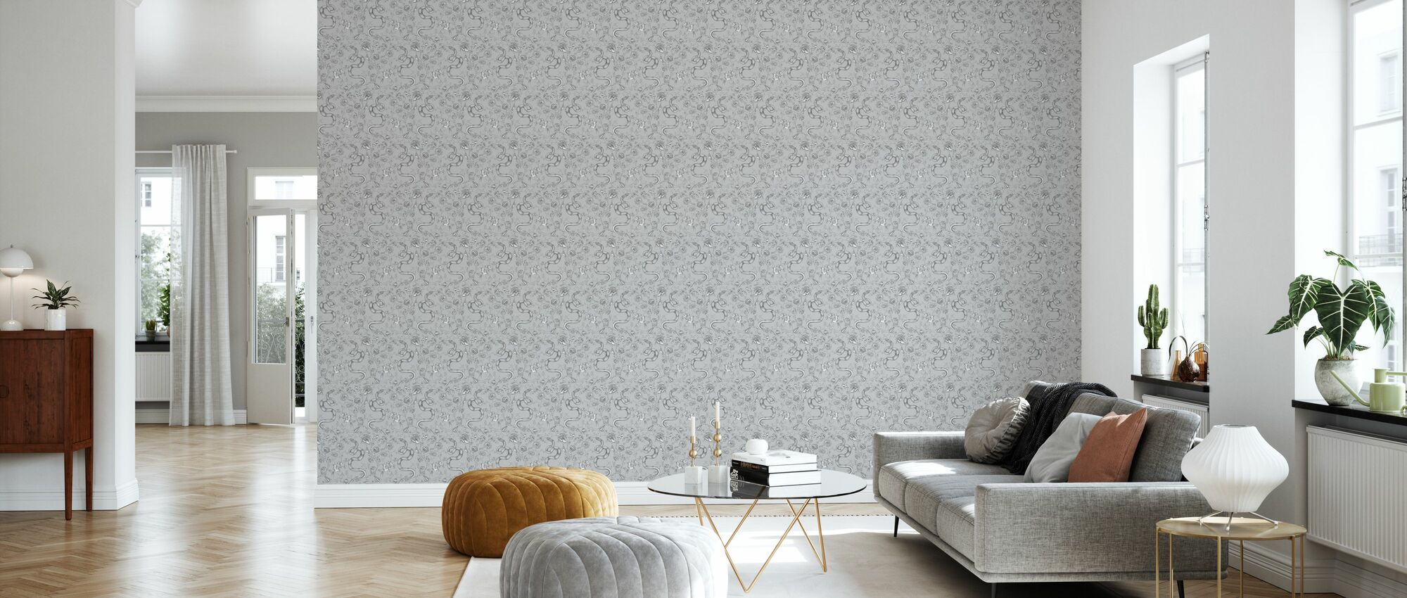 Snake Grey - Wallpaper - Living Room