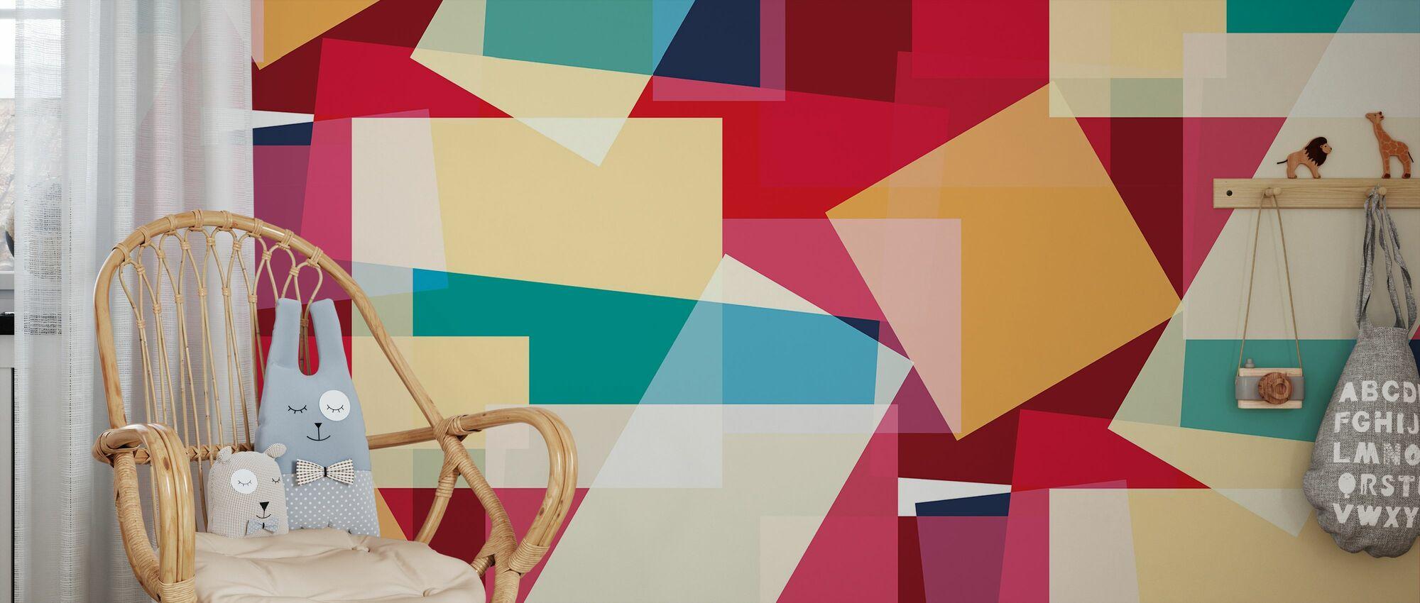 Block Mix 1 - Wallpaper - Kids Room