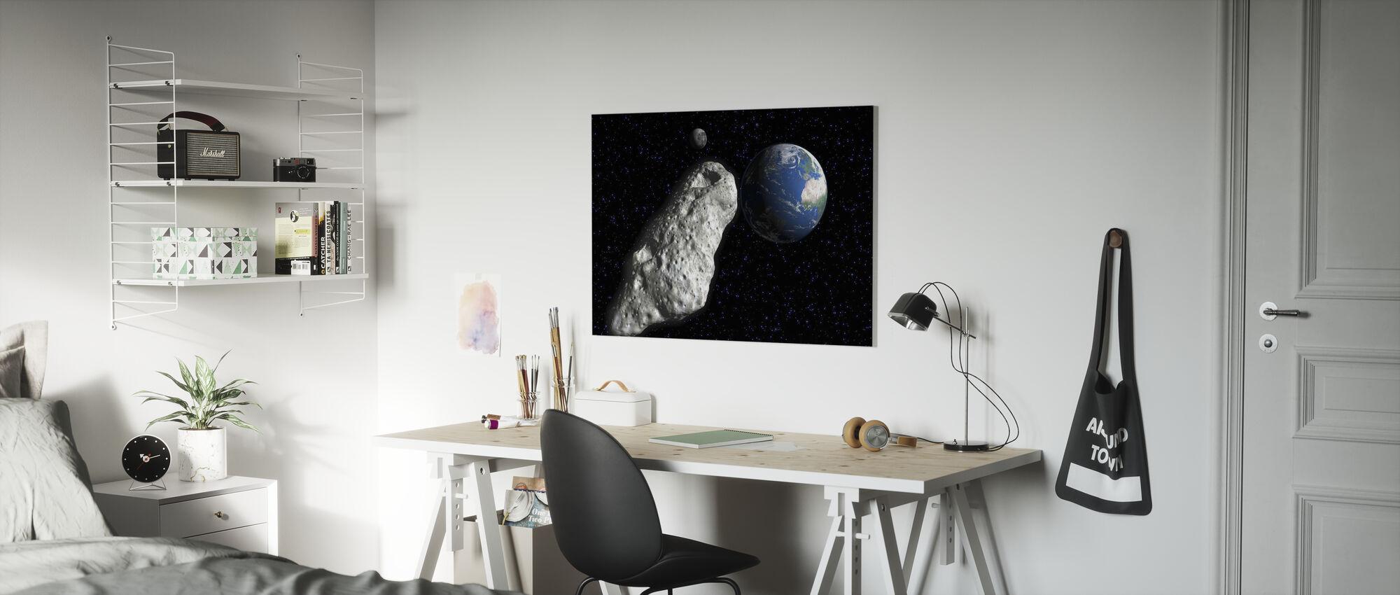 Asteroide - Billede på lærred - Børneværelse