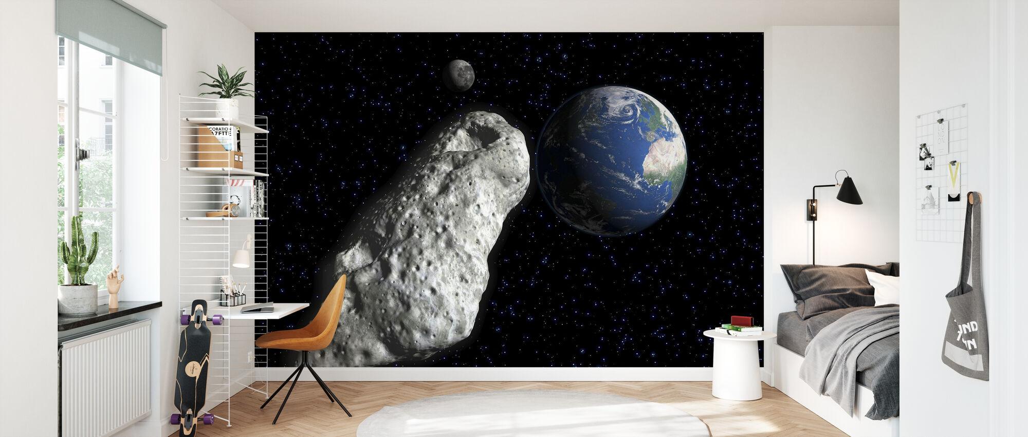 Asteroid - Wallpaper - Kids Room