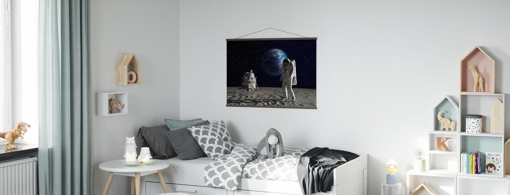 Astronaut op de maan 2 - Poster - Kinderkamer