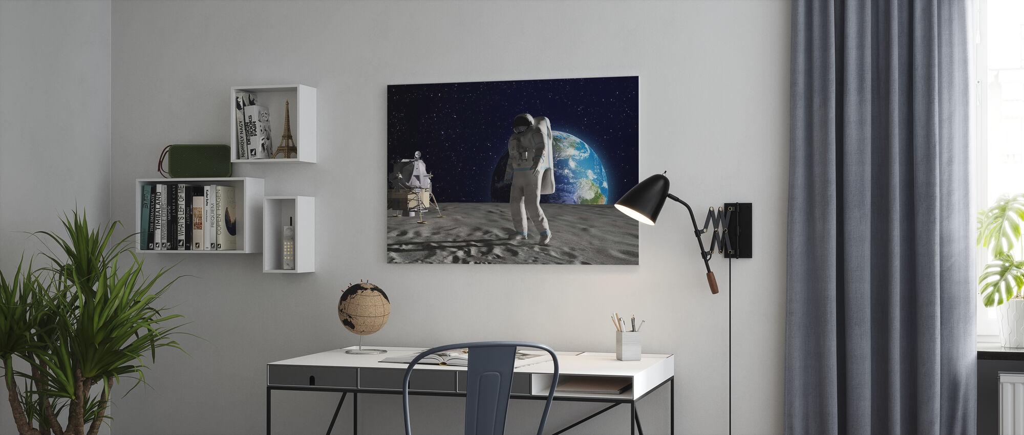 Astronaut on the Moon - Canvas print - Office