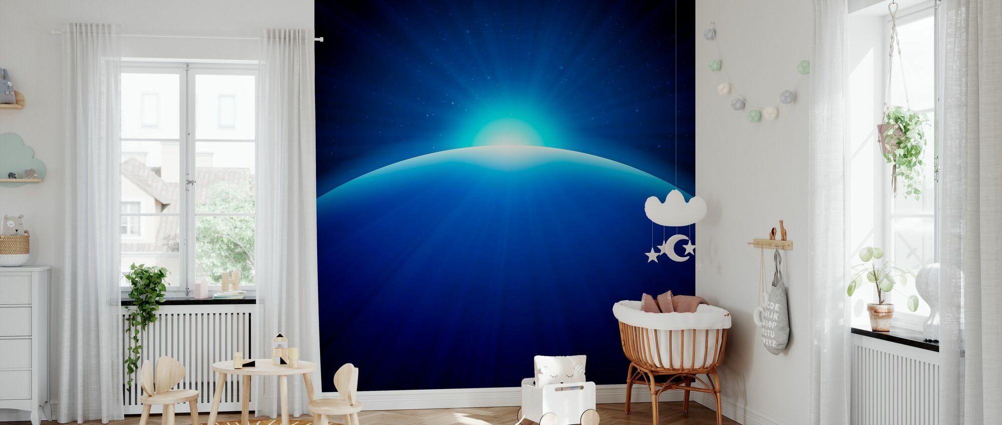 Global Edge Sunrise - Wallpaper - Nursery