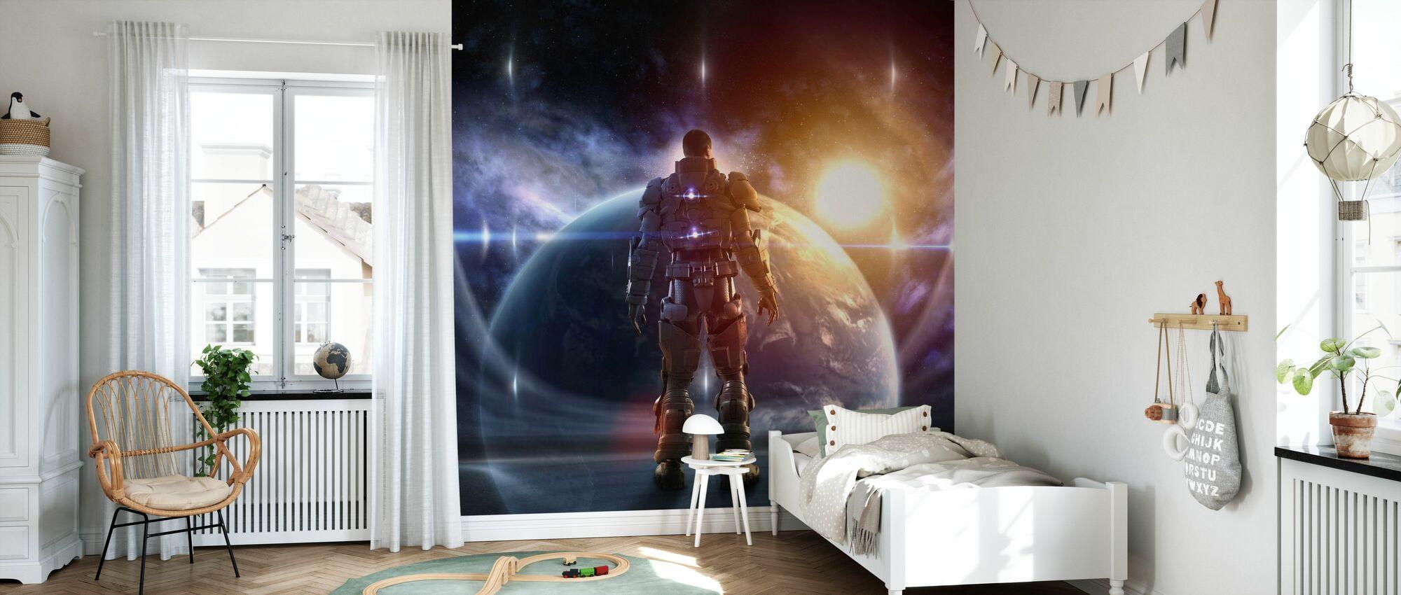 Glowing Armor - Wallpaper - Kids Room