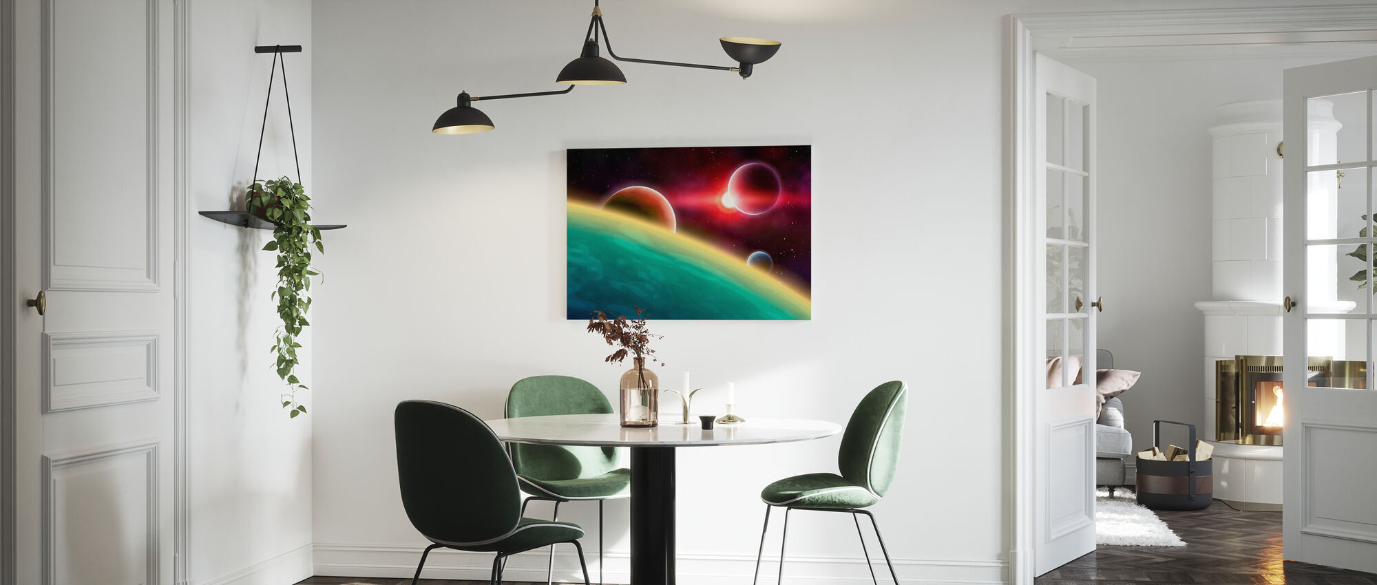Outer Space - Canvas print - Kitchen