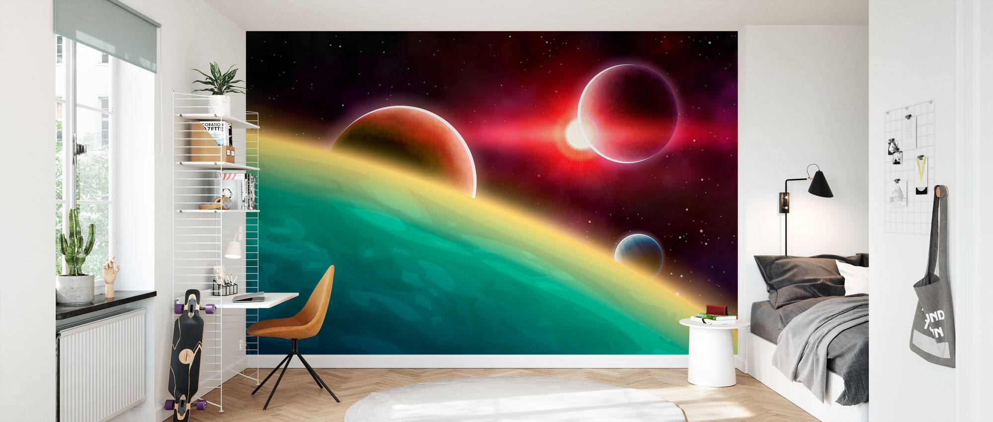 Outer Space - Wallpaper - Kids Room