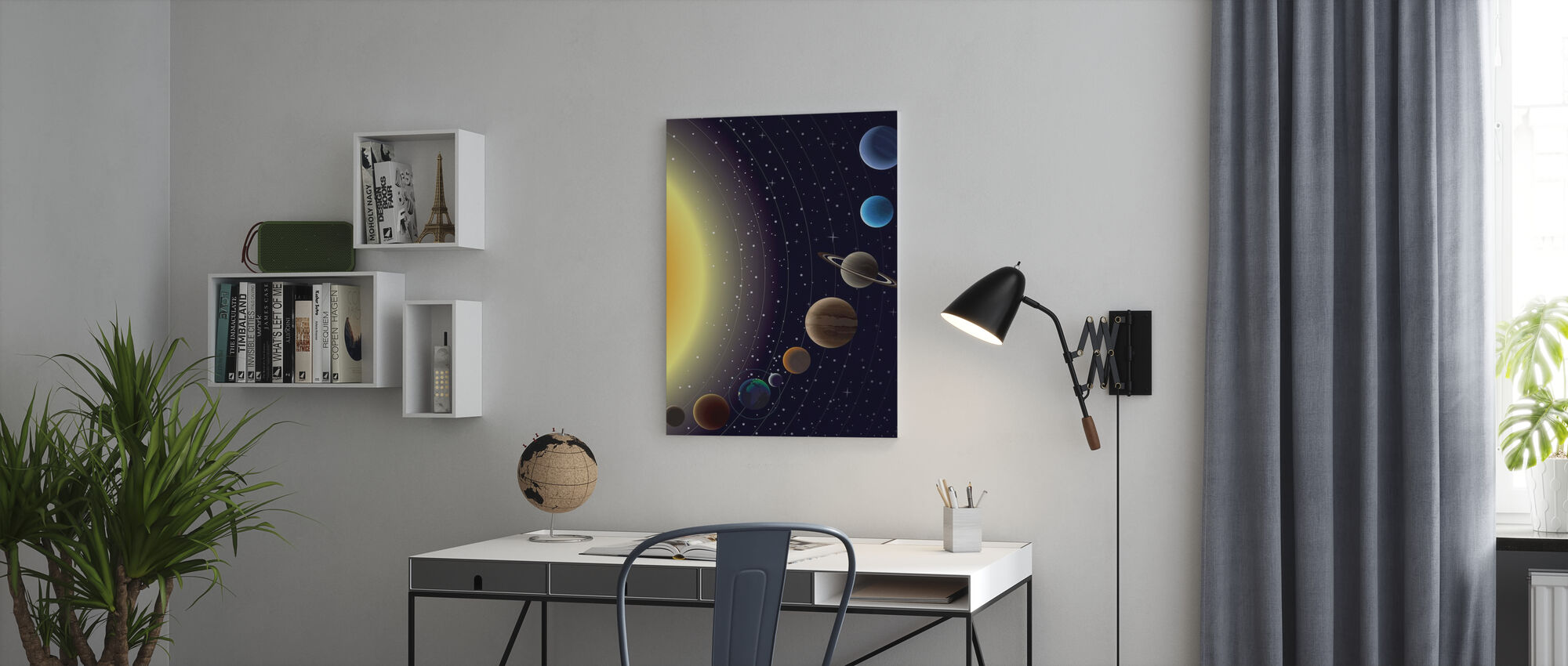 Planets - Canvas print - Office